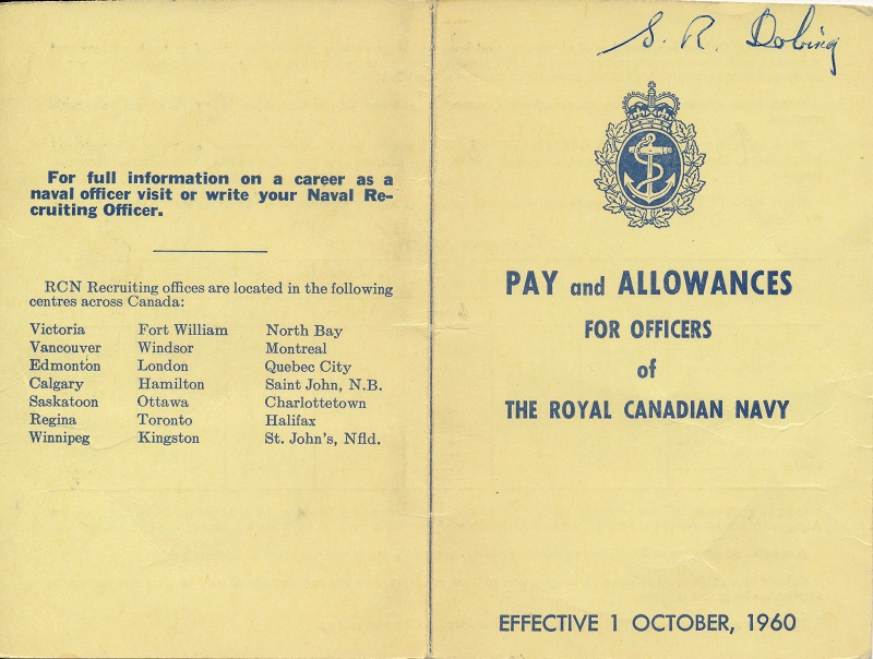 Pay and Allowances for Officers - 1960 - Front and back cover